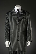 Boys Zoot Suit Package  Black and White Pinstriped