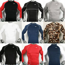 Mens Womens Compression Long sleeve shirts sports tights base under layer Top