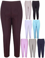 NEW WOMENS ELASTICATED WAIST LADIES TROUSERS SIZE 12-24