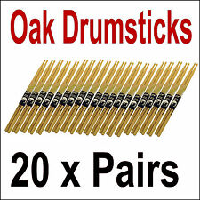 Multi Pack De 20 Roble Tambor sticks-bulk buy-quality 2b/5b/7a Barata Par Baquetas
