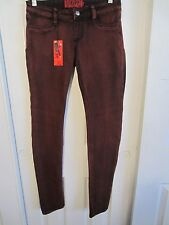 TRIPP GREY OVERDYE RED STRETCH SKINNY JEANS DIFFERENT SIZES TO CHOOSE FROM