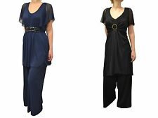 ANN HARVEY STYLISH JUMPSUIT OUTFIT  BLACK OR NAVY BNWOT SIZES 16-32
