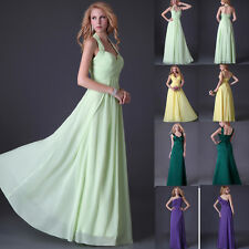 4 Styles! Sexy Prom Long Formal Wedding Bridesmaid Party Ball Gown Evening Dress