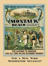 Montauk Long Island New York Tennis Polo Golf  Vintage Poster Repro FREE S/H