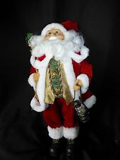 45cm Standing or Sitting Father Christmas Soft Toy Ornament Santa Figure Sitter