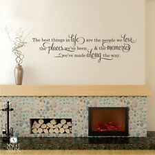 Best Things In Life Wall Decal Quote - Vinyl Wall Sticker Art