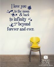 Love You To The Moon and Back Wall Decal - Vinyl Wall Sticker Art