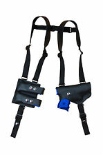 Barsony Black Leather Shoulder Holster w/ Dbl Mag Pouch Walther Steyr Comp 9mm
