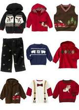 NWT Gymboree Holiday Christmas Boy Shirt Sweater Pants Reindeer Train Vest 3-24M