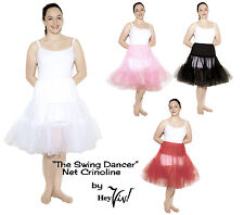 Crinoline Net Petticoat Slip - M/L to XL - White, Black, Red, Pink - 50s Style