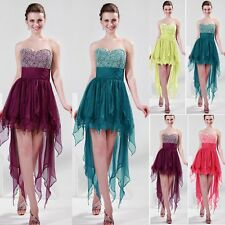 2013 Charming High-Low Chiffon Bridal Cocktail Evening Prom Ball Party Dresses