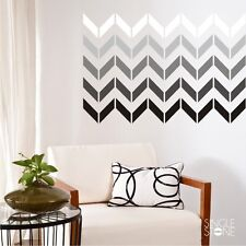 Chevron Pattern Wall Decals (smaller design) - Vinyl Sticker Art