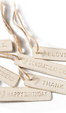 Vintage Chic GOOD LUCK Metal  Keepsake Gift Tag Wedding Favours Fair Trade