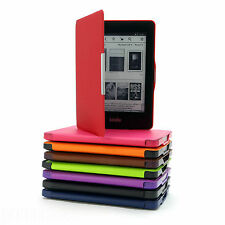 DELUXE PU LEATHER CASE COVER FOR NEW AMAZON KINDLE PAPERWHITE 2014 WI-FI / 3G