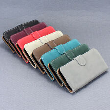 Deluxe Magnetic Stand Wallet For iPhone 5C Matte Flip Leather Pouch Case Cover