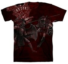 Ranger Up Hector and Achilles T-Shirt (Red) - mma military rtfu
