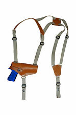 NEW Barsony Horizontal Tan Leather Shoulder Holster for Ruger, Star Full Size