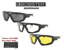 Bobster Sunglasses DESPERADO WITH YELLOW LENS Mens Guys Padded Riding Harley