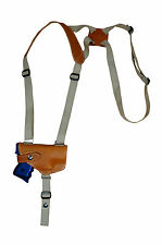 NEW Barsony Horizontal Tan Leather Shoulder Holster S&W, M&P Comp 9mm 40 45