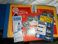 CHELSEA AWAY PROGRAMMES FROM 1972/3