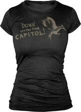 Hunger Games 2: Catching Fire Down With Capitol Juniors Black T-Shirt