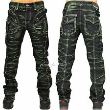 "PEVIANI BAR G JEANS, HIP HOP TIME IS MONEY URBAN MENS, ""STAR-ROCK"" DENIM GREEN"