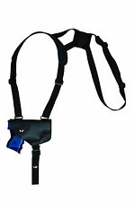 NEW Barsony Horizontal Black Leather Shoulder Holster S&W M&P Comp 9mm 40 45