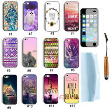 New Amazing Hard Case Cover For iPhone 5 5G 5S+Free Touch Pen& Screen Protector