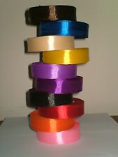 25 30 Full Metres Reel 13 mm Quality Satin Ribbon Single Faced Assorted Colours