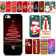 New Gift Christmas Tree Santa Claus PC Phone Skin Case Cover for Iphone4 4S 5 5S