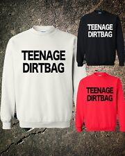 Teenage Dirtbag One Direction Crewneck Sweater Sweatshirt Red white black