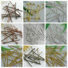 100pcs Metal Head/Eyeball Pins Finding 18mm-70mm Gauge Any Size To Choose