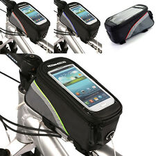 """Mobile Phone Cell Phone Bag Durable 4.2"""" Cycling Bike Bicycle Front Tube Pouch"""