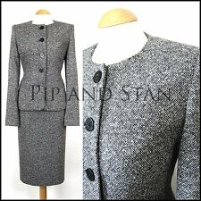 NEXT GREY WOOL TWEED PENCIL SKIRT SUIT SIZE 12 OFFICE WOMENS LADIES WOMAN