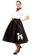 50s Felt Sock Hop Poodle Circle Skirt - Plus / XL - Made in USA by Hey Viv Retro