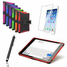 THIN BUMPER BACK PROTECTION CASE COVER WITH KICK STAND FOR APPLE IPAD AIR