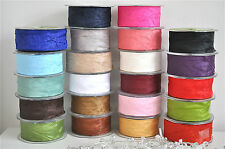 Vintage Style Elegant Silky Crushed Ribbon Bow Floristry Decor Wedding x 2mtr