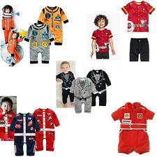 Baby Unisex Costume Romper Suit Astronaut Spaceman Car Racer Tuxedo Fleece 3-18M