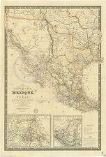 1840 ABSOLUTELY STUNNING FRENCH MAP OF PRE-WAR MEXICO Largest Sizes