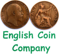 1902 TO 1910 EDWARD VII HALF PENNY / HALF PENNIES CHOICE OF YEAR / DATE