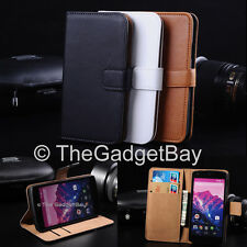 Luxury Genuine Real Leather Flip Case Wallet Cover For The New LG Google Nexus 5