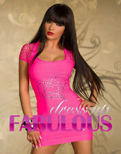 NEW SEXY 6 8 10 WOMEN'S BODYCON DRESS PARTY CASUAL CLUBBING EVENING WEAR CLOTHES