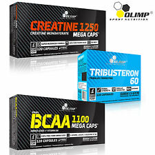 Creatine Monohydrate + Tribusteron 60 + BCAA 90/180 Capsules Muscle Growth Stack