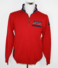Original PAUL & SHARK Yachting Pullover Troyer rot Schurwolle UVP 399,00€