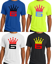 New Mens Crown 6 T-shirt Lebron James King Cleveland Cavs NBA S M L XL 2XL 3XL
