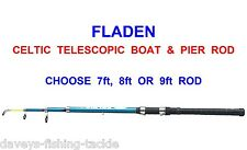 CELTIC TELESCOPIC BOAT ROD FOR SEA FISHING SPINNING UPTIDE RIGS BASS 7 8 OR 9 FT