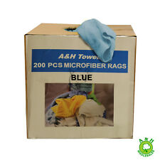 200 MICROFIBER TOWELS CAR/WINDOW/CLEANING RAGS/ AUTO DETAILING BULK TOWELS