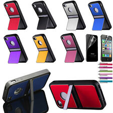 Aluminum Chrome Steel Hard Cover Case w/ Screen Protector + Pen For iPhone 4 4S