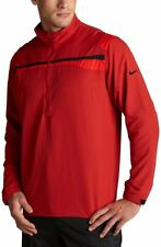 NEW Mens Nike Golf Stretch WINDPROOF 1/2 Zip Pullover Jacket Breathable Red $65