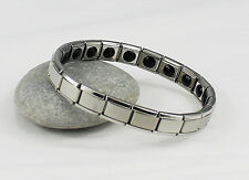 Titanium Power Nano Energy Bracelet Stainless Steel Balance Magnetic Band 20 !